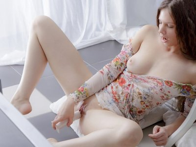 Mary in hot cowgirl riding a sex toy
