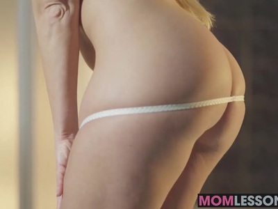 Hot mom had no idea her step daughter was on her way home