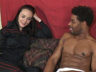 Charming brunette Cytherea adors big black cock