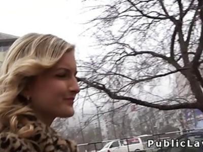 Picked up in public blonde fucks pov