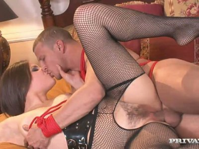 Bobbi Starr performs hardcore anal sex scene and self fisting action