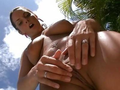 Naughty playgirl is shaking hunks male knob hard