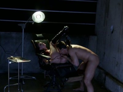 Secret agent bangs gorgeous Tori Black and cums on her belly