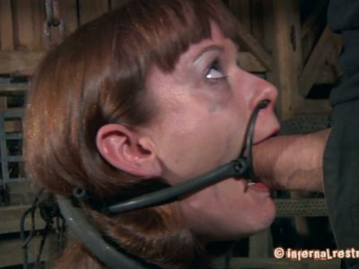 Mature guy tries different masks and brackets on Hazel Hypnotic