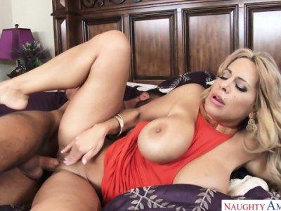 Hot Mommy Fucks Son's Friend - Alyssa Lynn