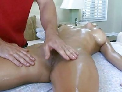 Darling rides on studs weenie after oil massage