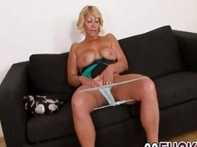 Busty Granny Sarah Takes Long Black Cock In Cunt