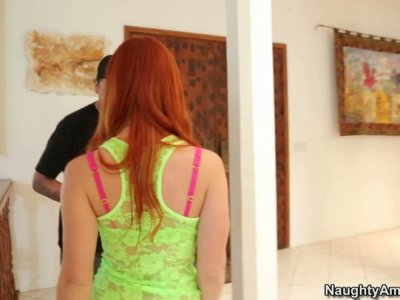Supportive girlfriend Dani Jensen fucks talent scout for the contract