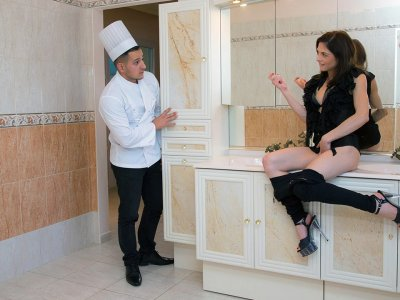 Sous-Chef whips Creme Fraiche for Mistress