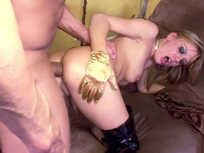 Blonde babe loves anal with a surprise ending